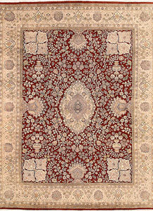 Dark Red Isfahan 7' 10 x 10' 4 - No. 68587