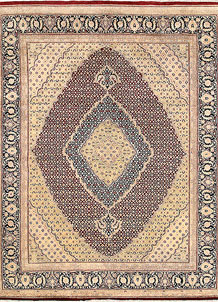 Dark Red Tabriz 8' x 10' 1 - No. 68589
