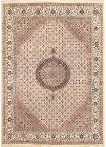 Blanched Almond Tabriz 7' 9 x 10' 11 - No. 68593