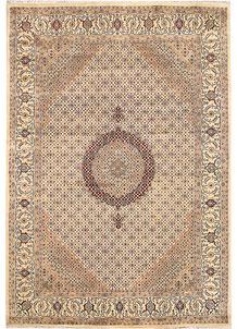 Blanched Almond Tabriz 7' 9 x 11' 3 - No. 68594