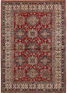 Dark Red Kazak 5' 7 x 8' - No. 68702