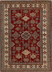 Dark Red Kazak 6' 7 x 9' 1 - No. 68705