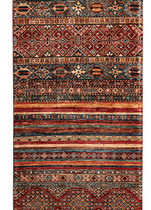 Multi Colored Kazak 2' 8 x 9' 11 - No. 68712