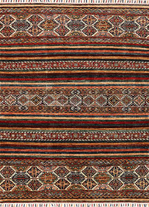Multi Colored Kazak 5' x 6' 7 - No. 68720