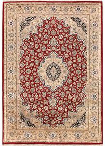 Firebrick Isfahan 5' 6 x 7' 11 - No. 68736