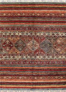 Multi Colored Kazak 5' 1 x 6' 11 - No. 68795