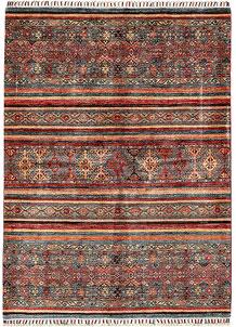 Multi Colored Kazak 4' 11 x 6' 9 - No. 68797