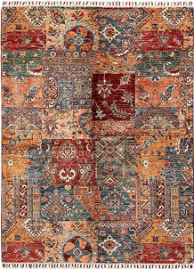 Multi Colored Kazak 4' 11 x 6' 7 - No. 68805