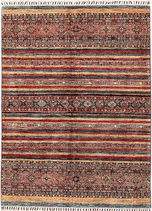 Multi Colored Kazak 4' 11 x 6' 7 - No. 68806