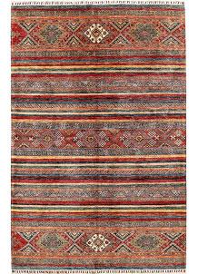 Multi Colored Kazak 6' 6 x 10' - No. 68823