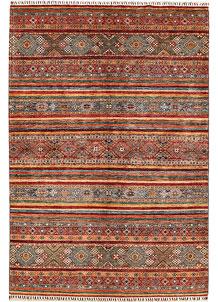 Multi Colored Kazak 6' 9 x 9' 11 - No. 68826