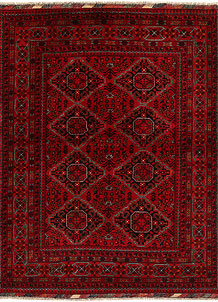 Dark Red Khal Mohammadi 4' 11 x 6' 3 - No. 68916