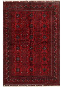 Dark Red Khal Mohammadi 6' 7 x 9' 6 - No. 68941