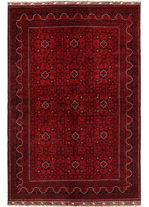 Dark Red Khal Mohammadi 6' 3 x 9' 8 - No. 68945