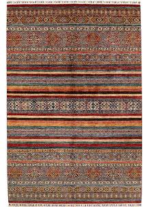 Multi Colored Kazak 6' 9 x 10' - No. 68957