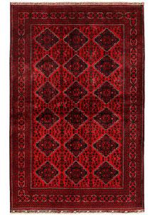 Dark Red Khal Mohammadi 6' 4 x 9' 9 - No. 68980