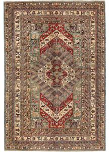 Multi Colored Kazak 5' 6 x 8' 1 - No. 69028