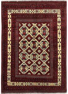 Multi Colored Khal Mohammadi 4' 7 x 6' 6 - No. 69388