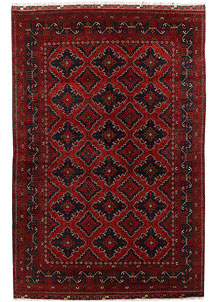 Dark Red Khal Mohammadi 6' 3 x 9' 4 - No. 69428