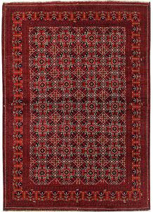 Dark Red Khal Mohammadi 6' 9 x 9' 7 - No. 69441