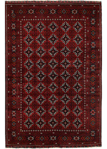 Dark Red Khal Mohammadi 6' 4 x 9' 6 - No. 69449