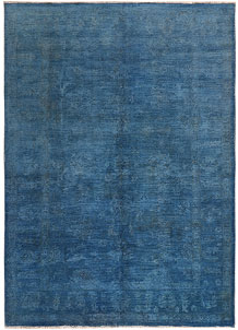 Steel Blue Overdyed 5' 11 x 8' 5 - No. 69629