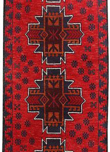 Red Baluchi 2' 4 x 6' 3 - No. 70424