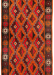 Dark Orange Baluchi 2' 6 x 6' 7 - No. 70443