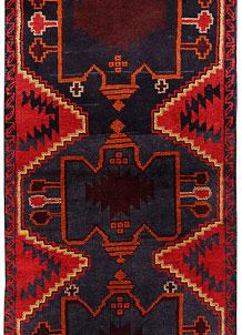 Multi Colored Baluchi 2' 6 x 6' 6 - No. 70473