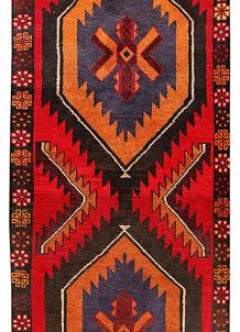 Multi Colored Baluchi 3' 1 x 12' 8 - No. 70510
