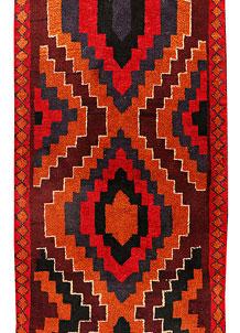 Multi Colored Baluchi 2' 7 x 12' 10 - No. 70516