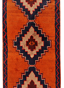 Dark Orange Baluchi 2' 6 x 13' 5 - No. 70539