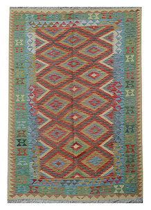 Multi Colored Kilim 5' 3 x 8' 2 - No. 70565