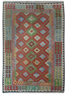 Multi Colored Kilim 5' 6 x 8' 3 - No. 70568