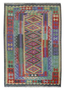 Multi Colored Kilim 5' 2 x 8' 1 - No. 70569