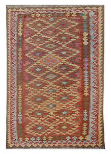 Multi Colored Kilim 5' 1 x 8' 6 - No. 70572