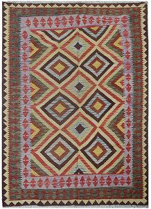 Multi Colored Kilim 5' 3 x 7' 9 - No. 70574