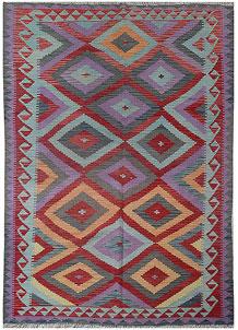 Multi Colored Kilim 5' 1 x 8' - No. 70576