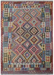 Multi Colored Kilim 5' 7 x 8' 10 - No. 70578