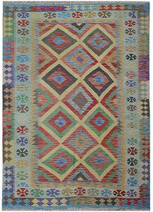 Multi Colored Kilim 5' 3 x 7' 6 - No. 70579