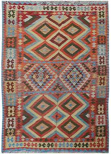 Multi Colored Kilim 5' 7 x 7' 6 - No. 70580