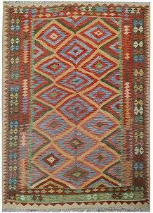 Multi Colored Kilim 5' 2 x 7' 10 - No. 70581