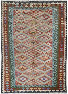 Multi Colored Kilim 5' 2 x 7' 10 - No. 70582