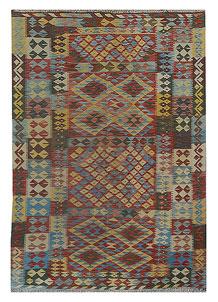Multi Colored Kilim 5' 6 x 8' 2 - No. 70583