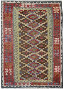 Multi Colored Kilim 5' 1 x 7' 10 - No. 70585