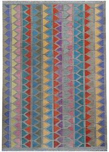 Multi Colored Kilim 5' 9 x 7' 11 - No. 70587