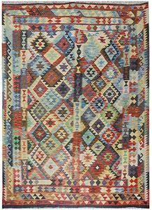 Multi Colored Kilim 5' 9 x 8' 1 - No. 70590