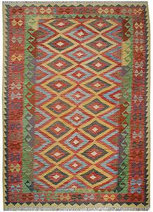 Multi Colored Kilim 5' 7 x 8' - No. 70592