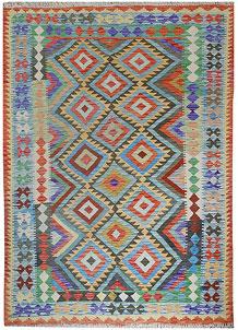 Multi Colored Kilim 5' 9 x 7' 11 - No. 70593