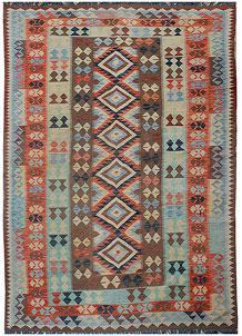 Multi Colored Kilim 5' 2 x 9' 11 - No. 70594